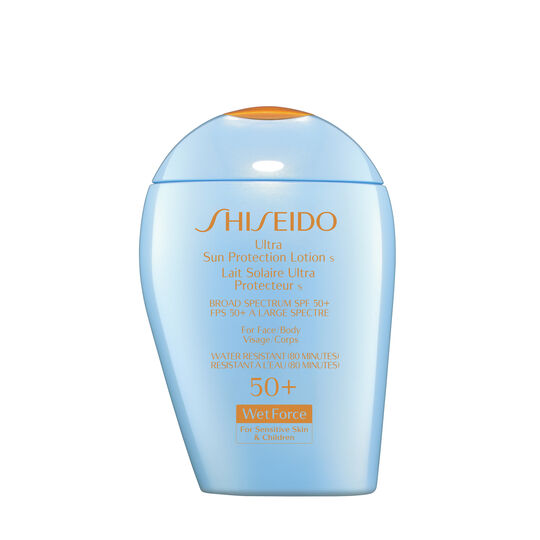 Ultra Sun Protection Lotion WetForce for Sensitive Skin and Children SPF 50+,